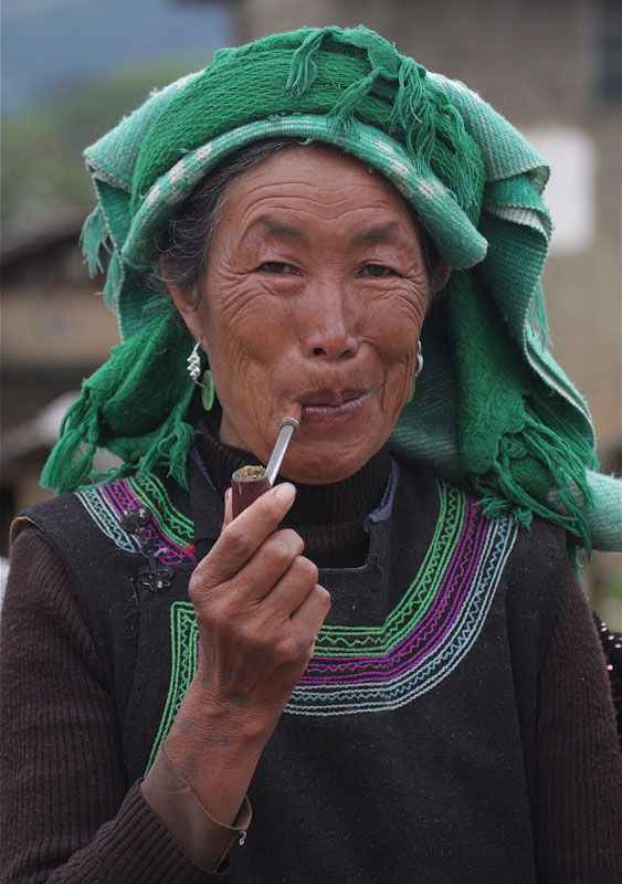 Smoking woman, Yunnan
