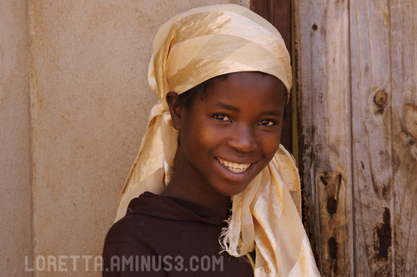 Girl with golden headscarf