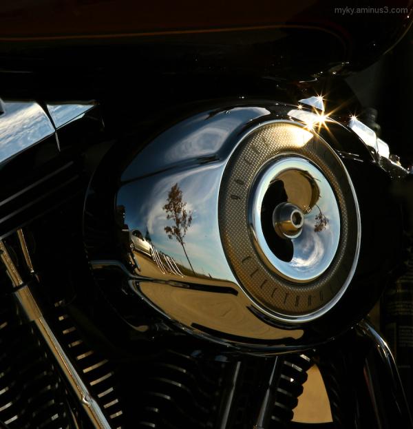 His Harley...