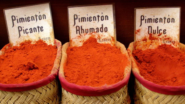 spices on display, granada, spain