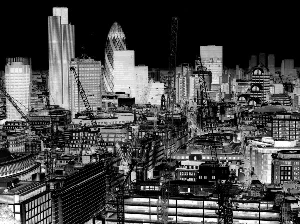 city of london - changing day into night