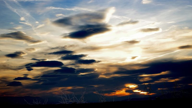 sunset with lenticular clouds, baden