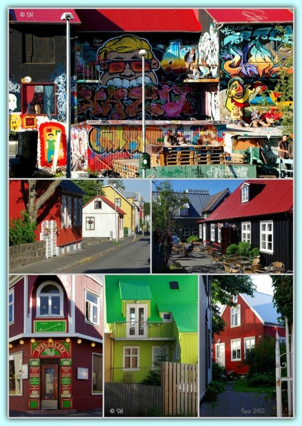 iceland, reykjavik, colourful houses