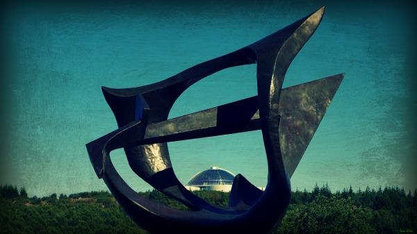 iceland, reykjavik, perlan, sculpture