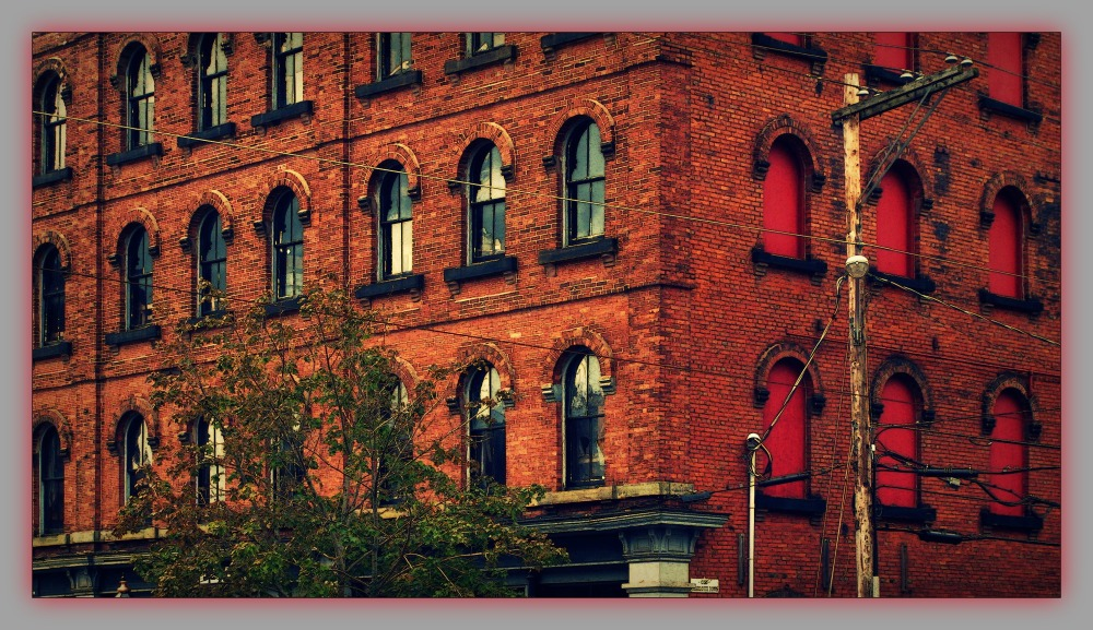 canada, PEI, charlottetown, red brick building