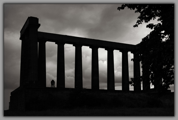scotland, edinburgh, calton hill, natl. monument