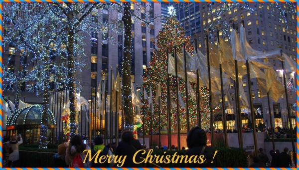 new york city, christmas, rockefeller center