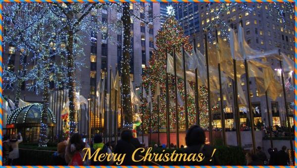 new york city, christmas, rockefeller center