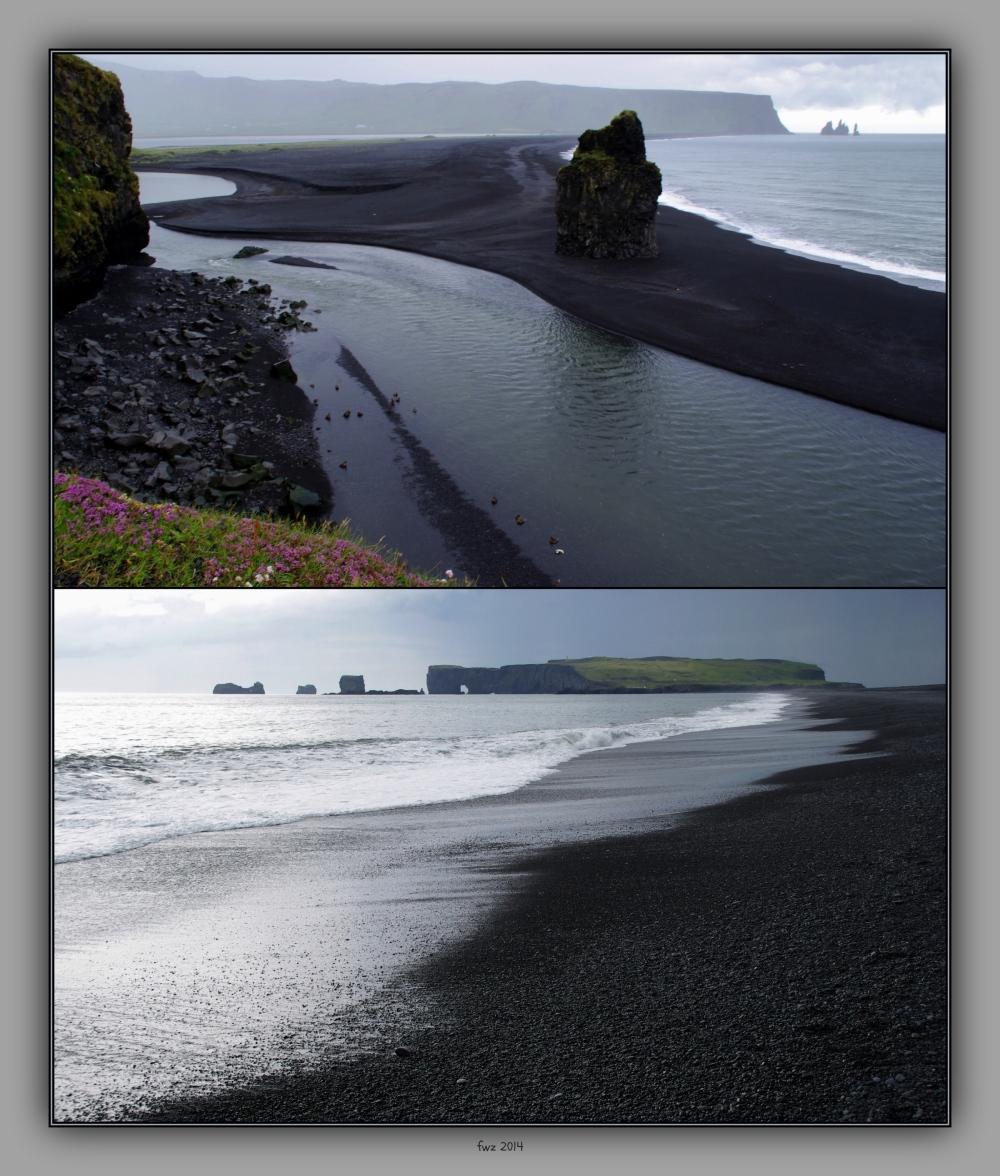 iceland 2014, dyrhólaey, reynir, coast, collage