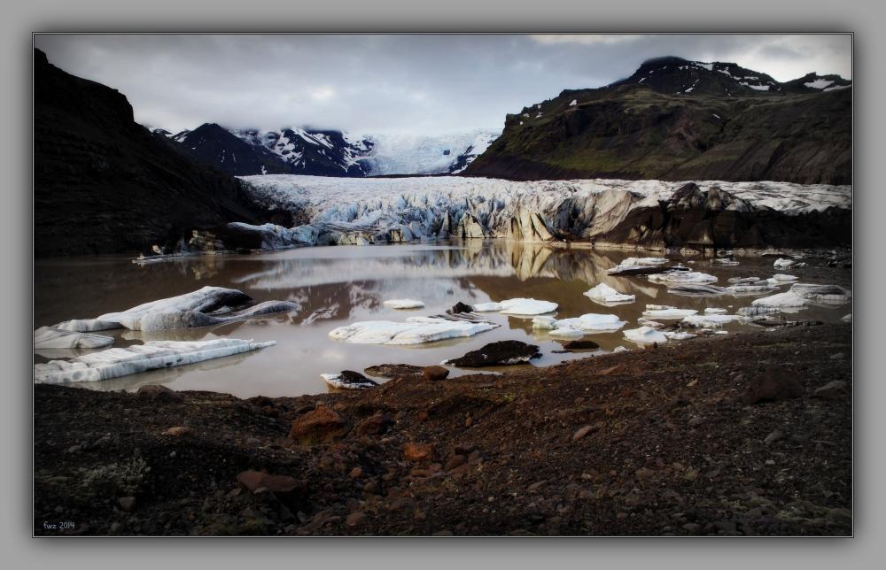 iceland 2014, svinafellsjökull, glacier, lake