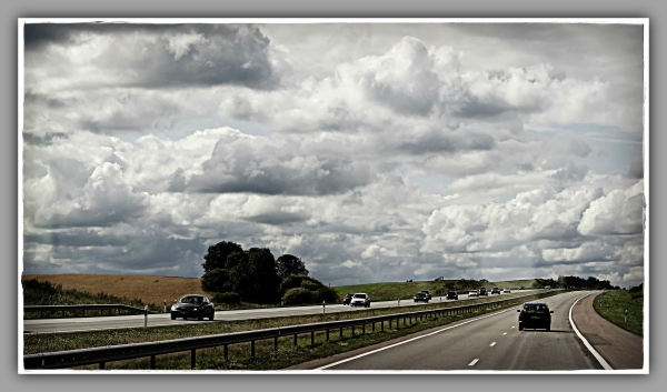 baltic states, lithuania, countryside, road, cloud