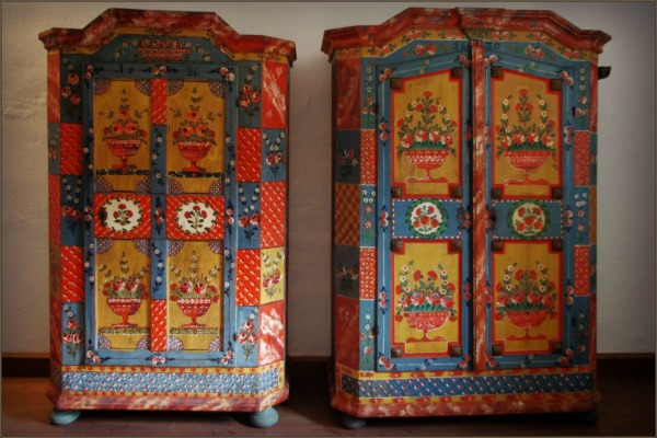 austria, traditional furniture, clothes cupboards