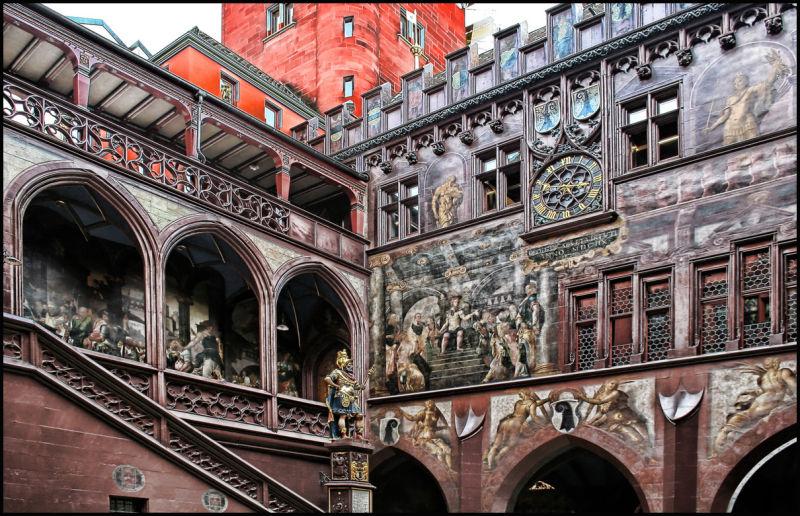 Town hall Basel - courtyard