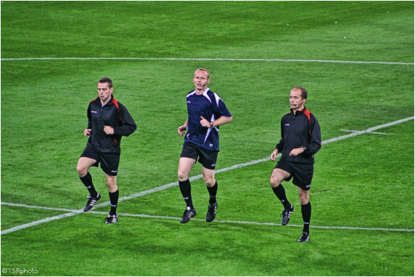 Dance of football referees.