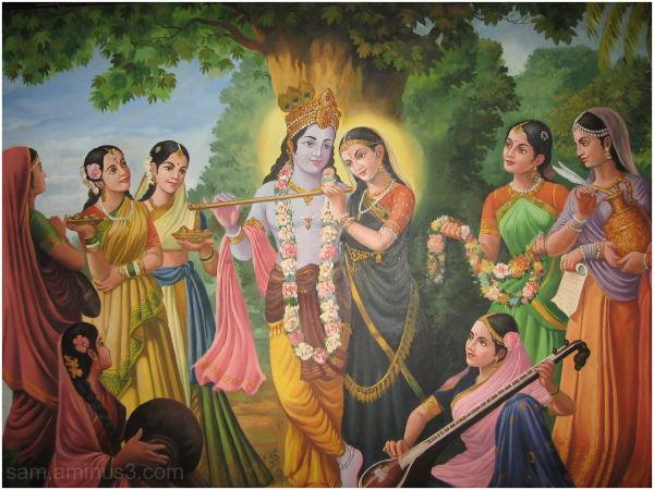 Wall painting - Radha Krishna