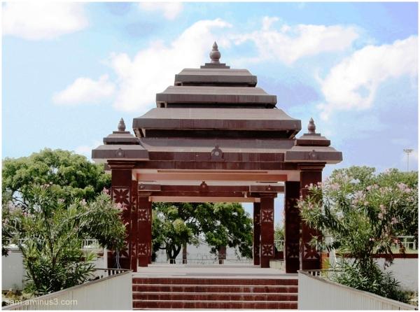 A Mandapam in MGR Memorial Chennai