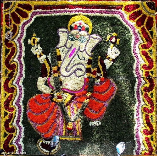 Ganesha in Flowers