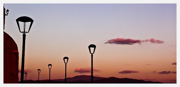 Lampost behind the walls of Ciudad Rodrigo
