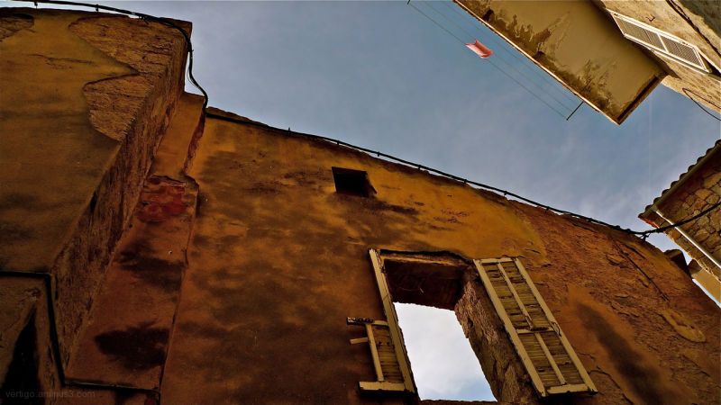 Window in Sartene Corsica