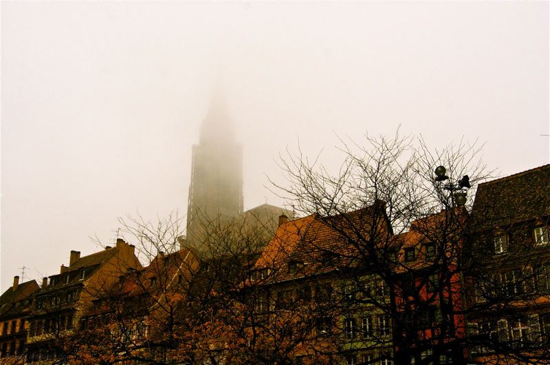 Strasbourg under fog