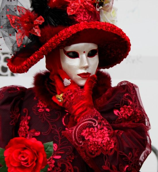 Rose Rouge Carnaval Venise