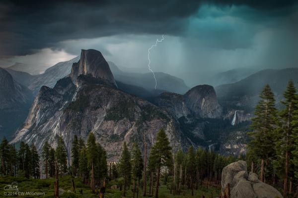 Summer Lightning in Yosemite