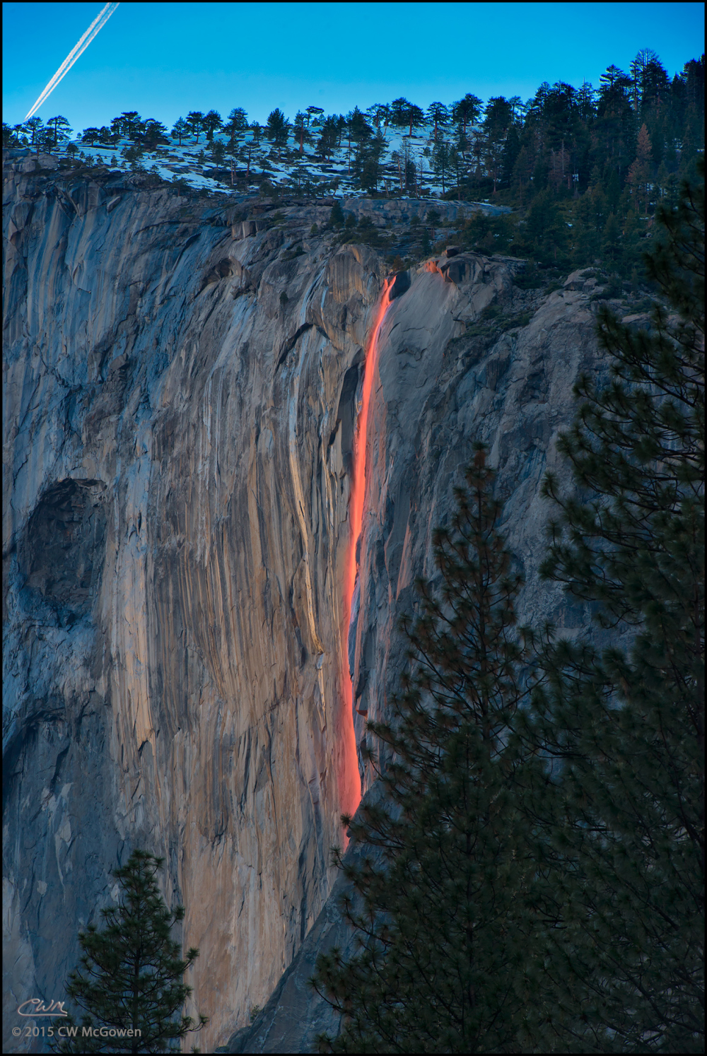 Last Light on Horsetail Falls