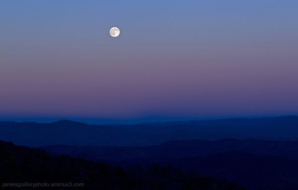 Full Moon over the Blue ridge Mountains