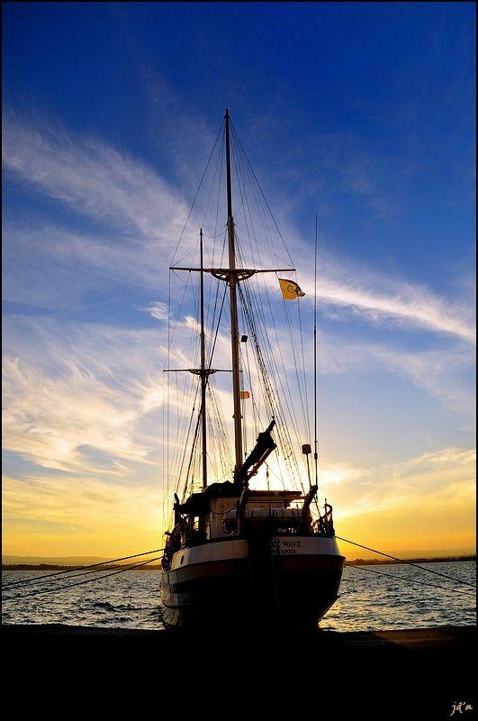 voilier bateau ciel