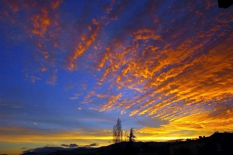 Un ciel au coucher du soleil