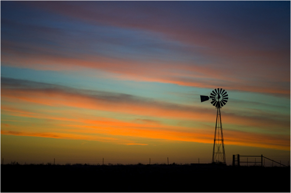 Wind turbine in Texas, USA