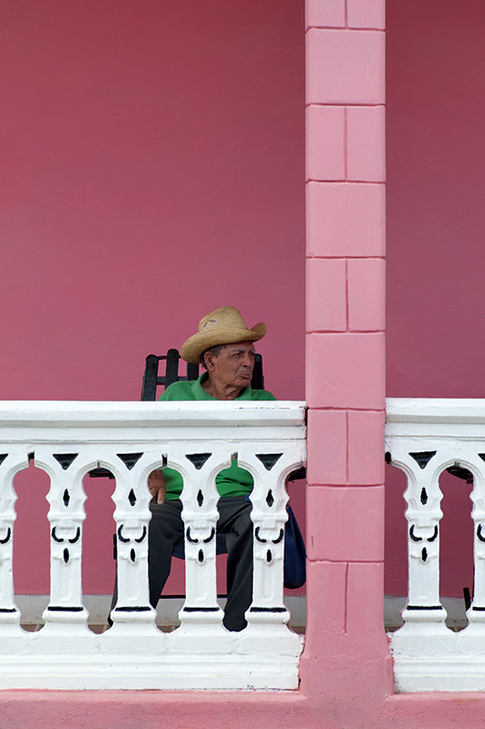 Pink house in Cuba