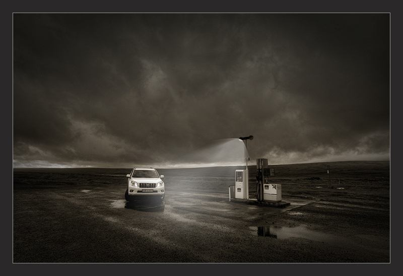 Gas Station in Iceland