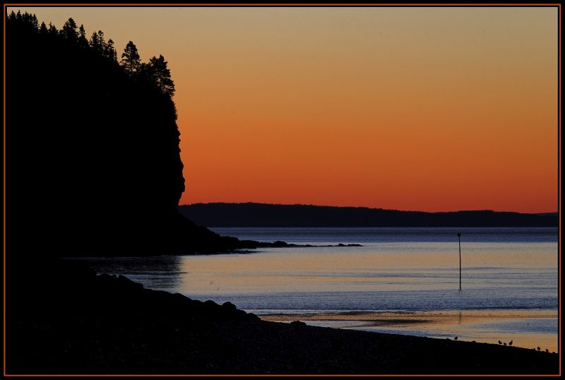 Sunrise on the Bay of Fundy at Alma, New Brunswick
