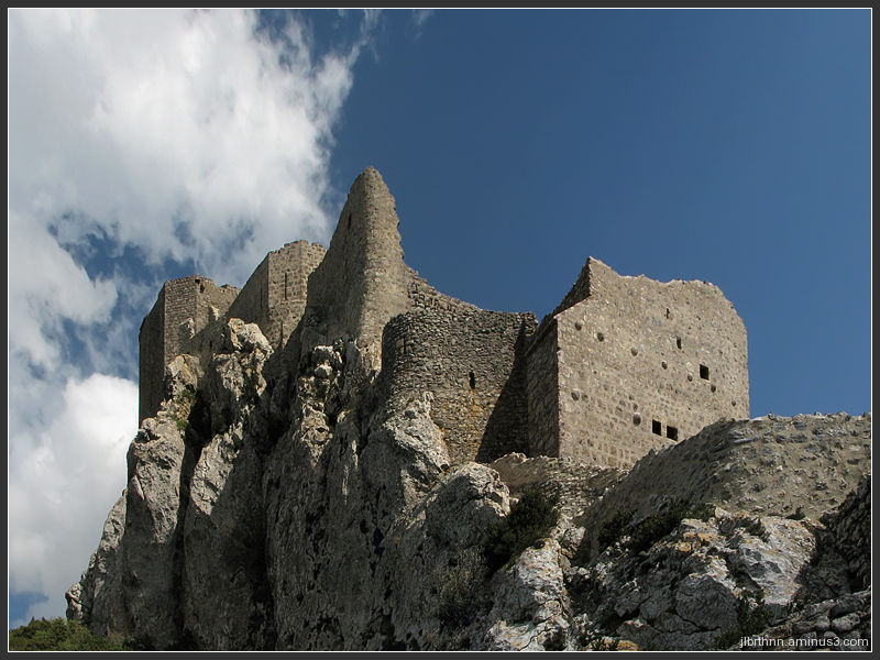 The Quéribus giddy citadel, Cucugnan, Languedoc