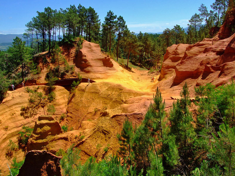 Ochre mines in Roussillon