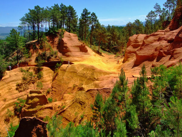 Ochre mines in Roussillon