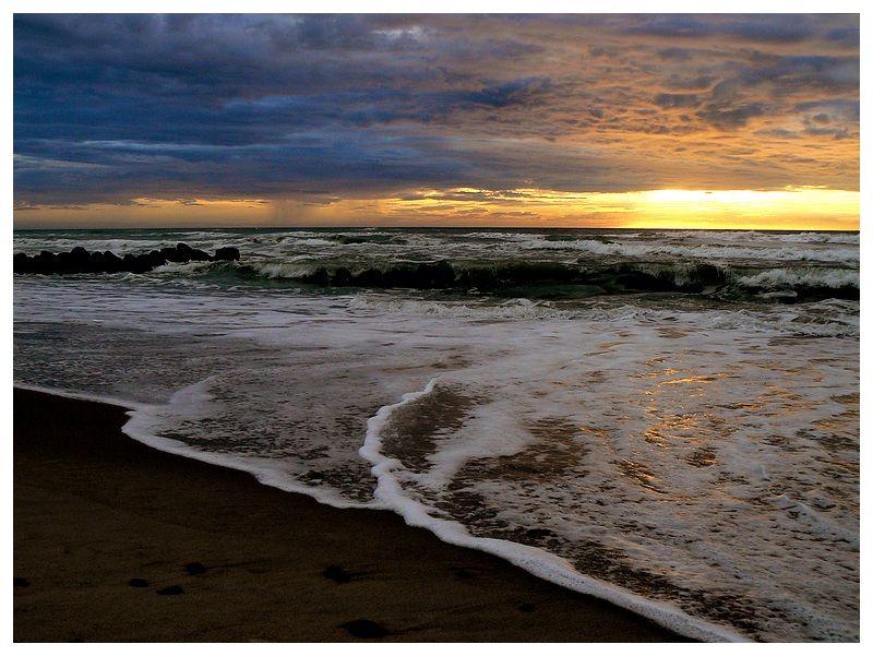 sunset on Skagen beach