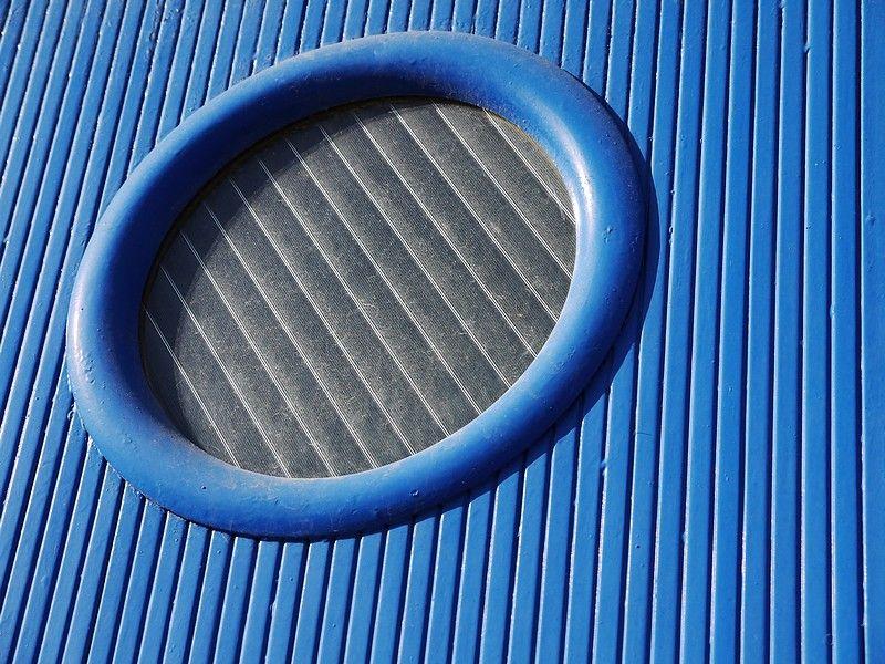 detail of a garage door
