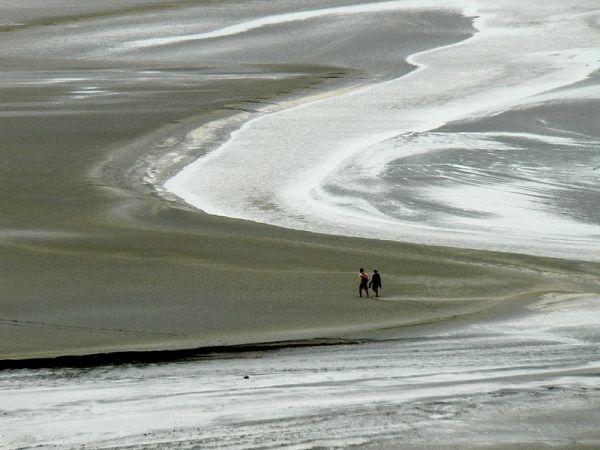 walk on the wet sand