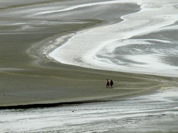 walk on the wet sand