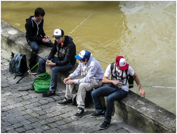 Pêcheur sur la Rive Gauche
