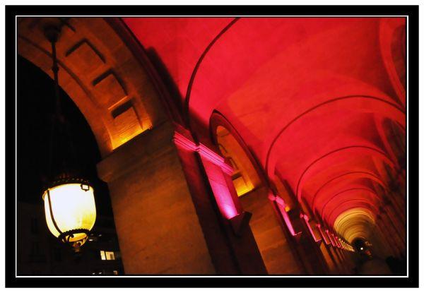 Arches du Grand théatre à Noël