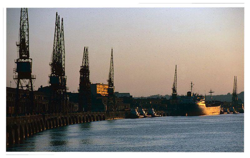 The Bordeaux wharfs