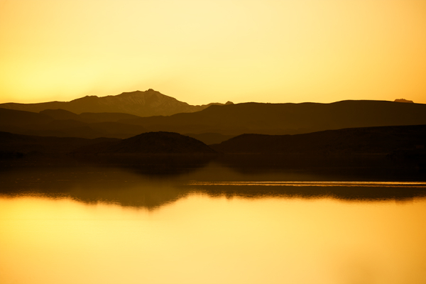 The lake of Ouarzazate, Morocco
