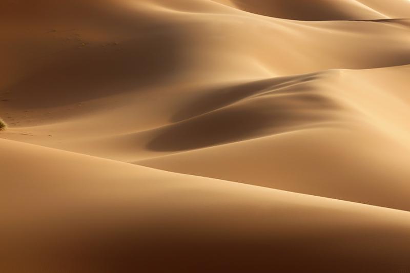 Sahara desert sand dunes Erg Chebbi in Merzouga