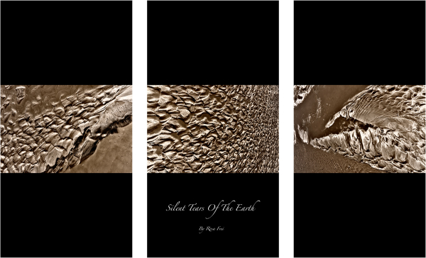Abstract mud triptych