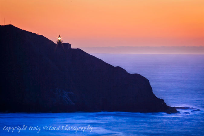 Point Sur Lighthouse at Dusk