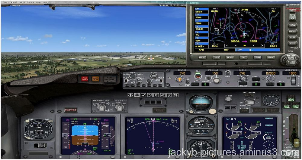 Approach landing approche aterrissage simulation