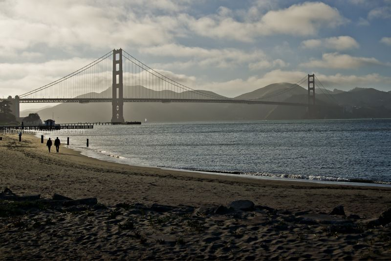 San Francisco sunset Golden Gate